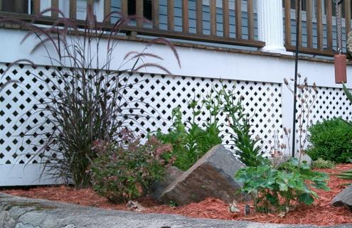 crimson corner of the garden
