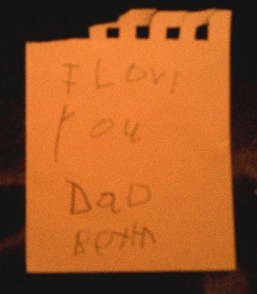 love note from my stepson
